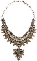Deepa Gurnani Sequin & Crystal Pendant Bib Necklace