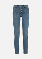 Balenciaga Tube High-rise Straight-leg Jeans - Indigo
