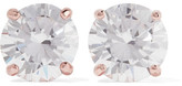 Kenneth Jay Lane Rose Gold-plated Cubic Zirconia Earrings - one size