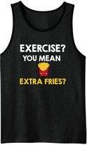 Minty Tees Exercise? You Mean Extra Fries Men's Tank Top