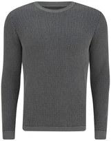 Folk Crew Neck Knit Grey/navy