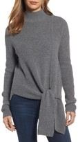 Halogen Petite Women's Tie Hem Sweater