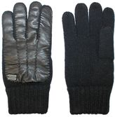 Replay Leather+ Knit Gloves