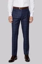 Ted Baker Tailored Fit Navy Check Pants