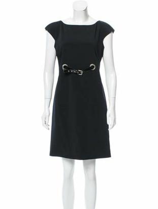 Dolce & Gabbana Belted Shift Dress Black