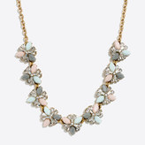 J.Crew Factory Gemstone lilypad necklace