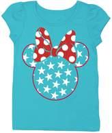 Freeze Minnie Mouse Short Puff Sleeve Tee (Toddler Girls)