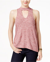 Almost Famous Juniors' Printed High-Low Tank Top
