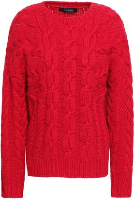 Cédric Charlier Cable-knit Wool And Cashmere-blend Sweater