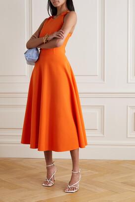 Oscar de la Renta - Wool-blend Midi Dress - Orange