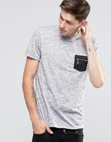Brave Soul Slub Zip Pocket T-Shirt