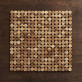 Crate & Barrel Wood Dot Placemat