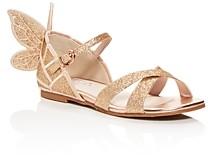 Sophia Webster Girls' Chiara Embroidered Glitter Sandals - Toddler, Little Kid
