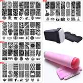 Bluezoo Nail Stamping Manicure Image Plates Accessories Kit*EL CONDOR PASA* 2 Stampers and Scrapters Included For Diy Salon