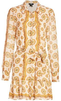 Paige Portofino Silk Shirt Dress