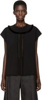 Valentino Black Sleeveless Fringed Sweater