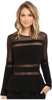 Nicole Miller Lili Structured Jersey Top