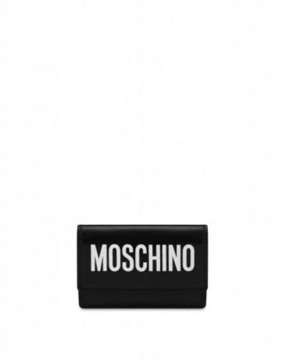 Moschino Mini Wallet With Logo Woman Black Size U It - (one Size Us)