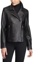Lauren Ralph Lauren Women's Leather Moto Jacket