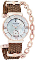 Charriol Women's Swiss St. Tropez Bronze-Tone PVD Stainless Steel Cable Bracelet Watch (30mm)