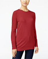 JM Collection Petite Crew-Neck Sweater, Only at Macy's