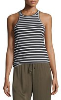 Trina Turk Striped Jersey Racerback Tank Top