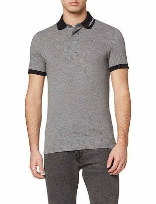 Calvin Klein Jeans Men's Collar Slim Contrast Polo Shirt
