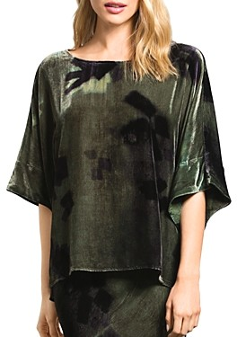 Go Silk Go by Easy Does It Printed Velvet Top