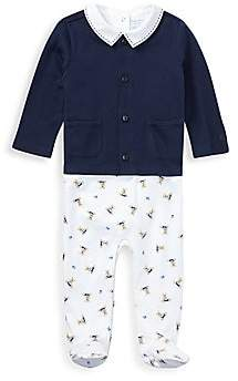 Ralph Lauren Baby Boy's Three-Piece Bodysuit, Cardigan & Footie Set
