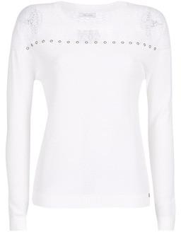 Ikks BN18305-11 women's Sweater in White