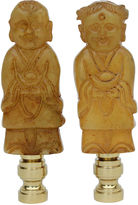 One Kings Lane Vintage Happy Couple Stone Lamp Finials, Pair