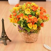 XHOPOS HOME-Fake flowers Home Decor Artificial Flower Braided Flower Baskets Daisy Yellow Plant Balconies Bedroom Wedding Valentine Gift-XHOPOS HOME