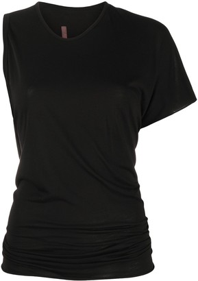 Rick Owens Lilies asymmetric fitted T-shirt