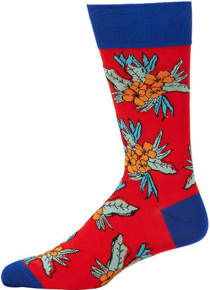 Bugatchi Men's Floral Crew Socks