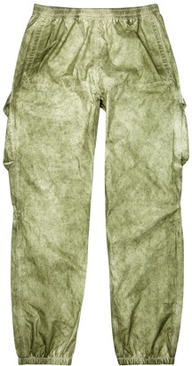 Stone Island Green shell cargo trousers