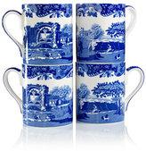 "Spode Blue Italian"" Mugs, Set of 4"