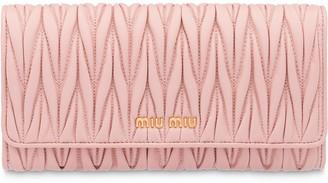 Miu Miu Matelasse flap wallet