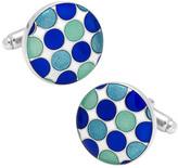 Cufflinks Inc. Men's Blue Polka Dot Cufflinks