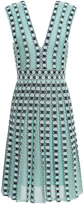 M Missoni Pleated Metallic Jacquard-knit Dress