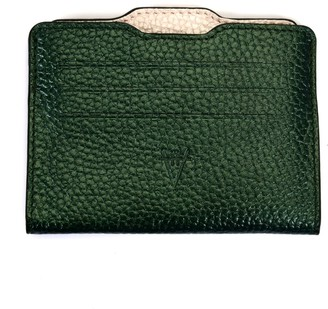 Atelier Hiva Double Card Holder Metallic Green & Pearl