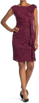 Marina Sequined Lace Sheath Dress