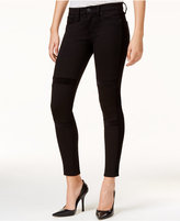 Hudson Velvet-Detail Black Wash Super Skinny Jeans