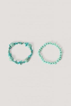 NA-KD Turquoise Double Bracelet Set