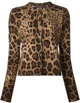 Dolce & Gabbana leopard print cardigan - women - Cashmere - 38