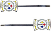 Aminco Pittsburgh Steelers Bow-Logo Bobby Pin - Set of Two