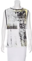 Helmut Lang Sleeveless Graphic Print Top