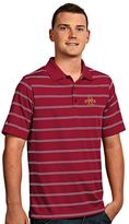 Antigua Men's Iowa State Cyclones Deluxe Striped Desert Dry Xtra-Lite Performance Polo