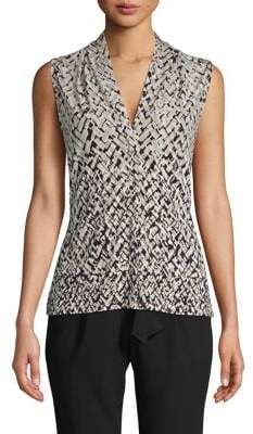 Calvin Klein Geometric-Print Sleeveless Top