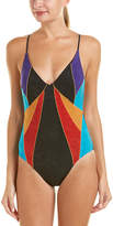 Nanette Lepore Serengeti Faux Suede Goddess One-Piece