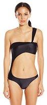 Vix Women's Solid Black Daphne One Piece Swimsuit